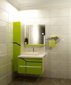 Tủ lavabo nhựa sơn men bóng màu xanh XVL509