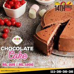 Grab a taste of deliciously moist chocolaty goodness!  #14thStreetPizza #OriginallyYours #NewLook #SweetSomethings  Call Now 111-36-36-36 or Visit www.14thstreetpizza.com