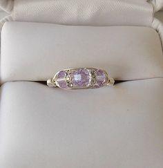 Girl Toddler Baby Violet Swarovski Crystal by kasual2klassy, $16.50