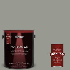 BEHR MARQUEE 1-gal. #MQ6-21 Hunter's Hollow Flat Exterior Paint
