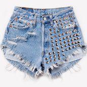 902 Vintage Half Studded Frayed Shorts