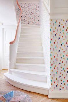 polka dots in the hallway
