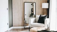 Creating a Modern Wood Accent Wall - Within the Grove Wood Slat Wall, Wood Panel Walls, Wood Slats, Wood On Walls, Diy Wood Wall, Brick Wall, Bedroom Wall, Bedroom Decor, Interior Design Trends