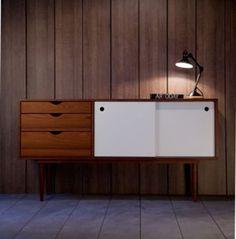 Enfilade en bois 2 portes 3 tiroirs Fidar Kann Design - Blanche