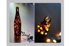 Beer Bottle Light Centerpiece via wit + whistle DIY