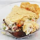 Dads left-over-turkey pot pie. Definately make this with your left over turkey this Thanksgiving.
