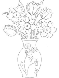 adult coloring and doodle ~~ art & drawings. Flower Coloring Pages, Coloring Book Pages, Doodle Art, Plant Drawing, Mandala Art, Colorful Pictures, Colorful Flowers, Spring Flowers, Easy Drawings