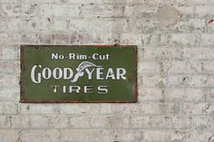 Vintage 1920's Goodyear Tires Porcelain Sign @ MDQualityGoods