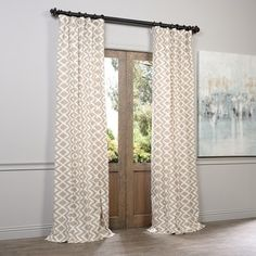 Exclusive Fabrics Palu Printed Cotton Curtain Panel - Free Shipping On Orders Over $45 - Overstock.com - 15605775 - Mobile