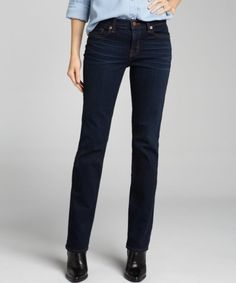 A Slim Leg Dark Denim Jean