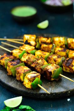Achari Paneer tikka is a delicious starter made with paneer marinated in a Achari marinade. Here is a tried and tested recipe to make Achari Paneer Tikka. - Achari Paneer Tikka Recipe (With Homemade Achari Masala) - Whiskaffair Paneer Recipes, Veg Recipes, Indian Food Recipes, Vegetarian Recipes, Cooking Recipes, Healthy Recipes, Milk Recipes, Indian Food Vegetarian, Indian Recipes