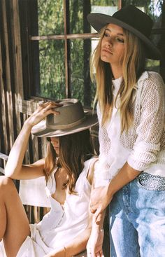 Remember When... Lack of Color Hats 2016. Shot by Brydie Mack. Jena wears The Joplin. Maya wears The Morrison.