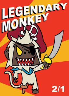 Monkey Legendary Token for MTG (ELO)