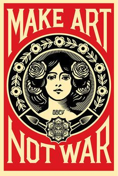 Shepard Fairey (OBEY) - Make Love Not War