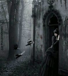 Perla-Marina at her father's crypt. *Bleed