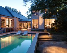 This most closely resembles the layout of our house & deck/pool. Like the chaise lounges on the tanning deck. Simple.