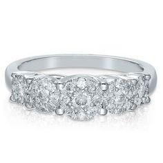 3/4ct TW Diamond Cluster Ring in 10K Gold | $999.99 | Helzberg