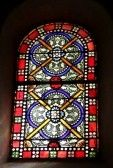 Glass : vetrate in una chiesa a Nyons, Francia