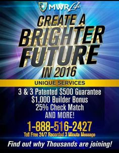 MWRlife is creating a brighter future for many entrepreneur.