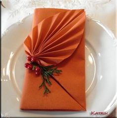 ♔ NAPKIN FOLD TUTORIAL https://www.pinterest.com/moonshooter1