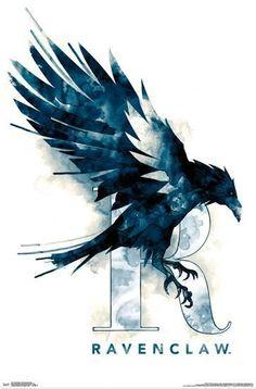 HARRY POTTER - RAVENCLAW ILLUSTRATED Prints at AllPosters.com Harry Potter Fan Art, Ravenclaw, Logos, Illustration, Movie Posters, Hogwarts, Design, Red Velvet, Red Valvet
