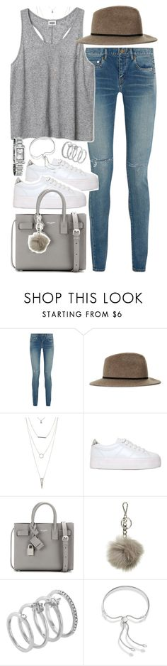 """""""Outfit with platform sneakers for summer"""" by ferned ❤ liked on Polyvore featuring Yves Saint Laurent, Topshop, Charlotte Russe, No Name, MICHAEL Michael Kors, Vince Camuto, Monica Vinader and Burberry"""