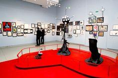 Detail of the Tim Burton exhibition, La Cinémathèque, Paris.