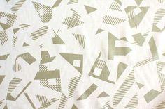 Japanese Fabric Kokka Tsumiki  Prism  white  by MissMatatabi