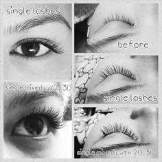 Natural looking lashes. Fransförlängning
