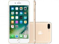 """Confira no #MagazineBrasilcompleto:  iPhone 7 Plus Apple 256GB Dourado 4G 5,5"""" - Câm. 12MP + Selfie 7MP iOS 10 Proc. Chip A10"""