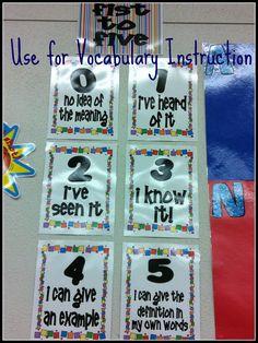 vocabulary - fist to five approach. good way to gauge student's understanding of new vocab! Vocabulary Instruction, Teaching Vocabulary, Teaching Language Arts, Vocabulary Activities, Vocabulary Words, Teaching Reading, Speech And Language, Teaching Tools, Classroom Activities