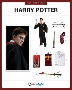 Dress like Harry Potter, one of the most skilled Wizards to ever attend Hogwarts, played by Daniel Radcliffe in Harry Potter Movie Series.