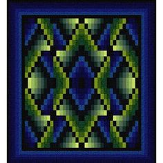 Navajo Winter, free quilt pattern by Jinny Beyer. Reminiscent of a Navajo rug, this design is created by arranging a repeat of mirrored and non-mirrored ...