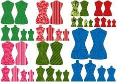 Torsos de Colores para Imprimir Gratis.