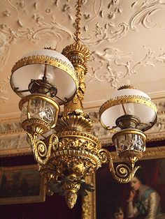 Original no wires, not converted to elec. True oil burners, worth a pritty penny or two. Victorian Homes, Victorian Era, Victorian Fashion, English Country Manor, English House, Victorian Lighting, Vintage Lighting, Plymouth England, Antique Chandelier