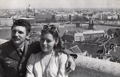 Bertalan Farkas and his wife in Budapest.