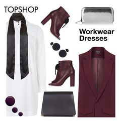 """""""workwear dress 2"""" by paculi ❤ liked on Polyvore featuring Unique, Topshop, women's clothing, women's fashion, women, female, woman, misses, juniors and topshop"""