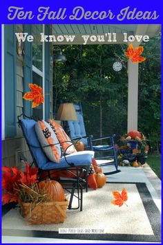 See 10 fall decorating ideas we know you will love at http://www.front-porch-ideas-and-more.com/10-curb-appealing-autumn-decorating-ideas.html