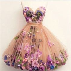 A dress full of flowers
