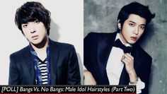 [POLL] Bangs Vs. No Bangs: Male Idol Hairstyles Part 2 | http://www.allkpop.com/article/2014/12/poll-bangs-vs-no-bangs-male-idol-hairstyles-part-2
