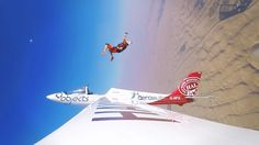 """Fear of heights not an issue here... check out this glider """"eject"""" captured with GoPro! Get adventure-ready with GoPro #HERO5 available to buy or rent here at RBC. #RBCgear #RuleRentals"""