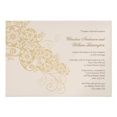 Vintage Elegant Boho Floral Paisley Wedding Invite  Click on photo to purchase. Check out all current coupon offers and save! http://www.zazzle.com/coupons?rf=238785193994622463&tc=pin