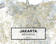 Yakarta -  Indonesia. Download CAD Map city in dwg ready to use in Autocad. www.mapacad.com