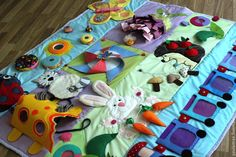 """Купить Развивающий коврик """"Большой мир маленького человечка"""" - развивающий коврик, для детей, развивающая игрушка Baby Sensory Play, Sensory Toys, Projects For Kids, Crafts For Kids, Childrens Rugs, Fidget Blankets, Fidget Quilt, Baby Clothes Patterns, Felt Quiet Books"""