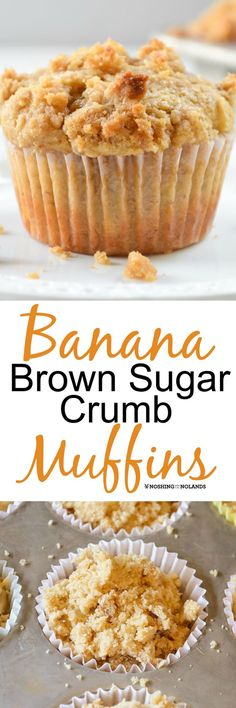 Banana Brown Sugar Crumb Muffins are gorgeous muffins that are sure to become a favorite for breakfast or brunch!