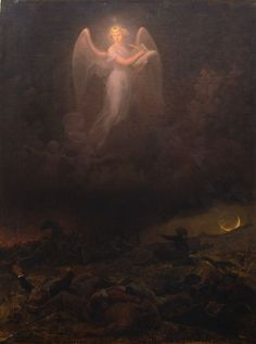 Emanuel Leutze (1816-1868) - Angel on the Battlefield