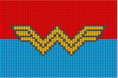 super hero logo charts. technically for crochet, but i think they'll translate to knit.