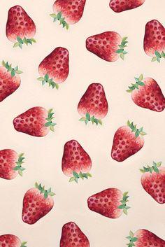 strawberry pattern #yejukoo #구예주 #illustration #art #artwork #painting #illust #korea #drawing #그림 #일러스트 #그림작가 #일러스트레이터 #미술 #예술 #strawberry #pattern #딸기 Geometric Wallpaper Iphone, Iphone Background Wallpaper, Trendy Wallpaper, Pastel Wallpaper, Cool Wallpaper, Scrapbook Background, Desenho Tattoo, Simple Wallpapers, Fruit Art