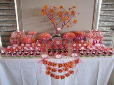 Photo 4 of 20: Fuschia & Orange Daisy Theme / Birthday Harpers 1st Birthday Brunch   Catch My Party