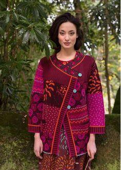 "Jacquard knitted cardigan ""Lene"" from organic cotton 76207_76207-33.tif"